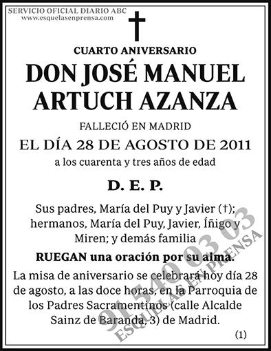 José Manuel Artuch Azanza